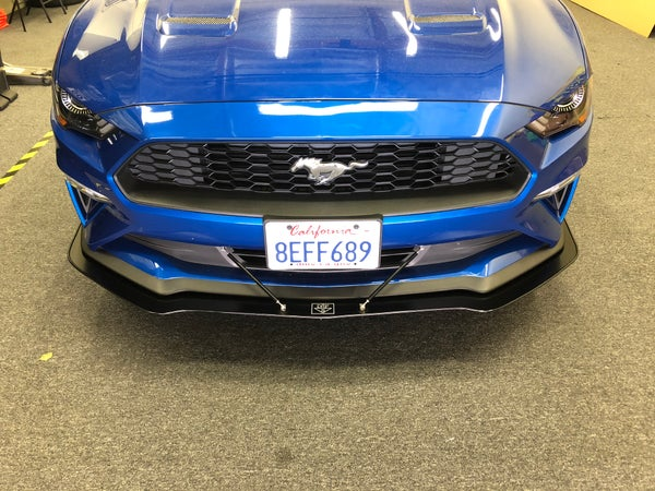 "Image of 2018 Ford Mustang ""V1"" Front splitter"