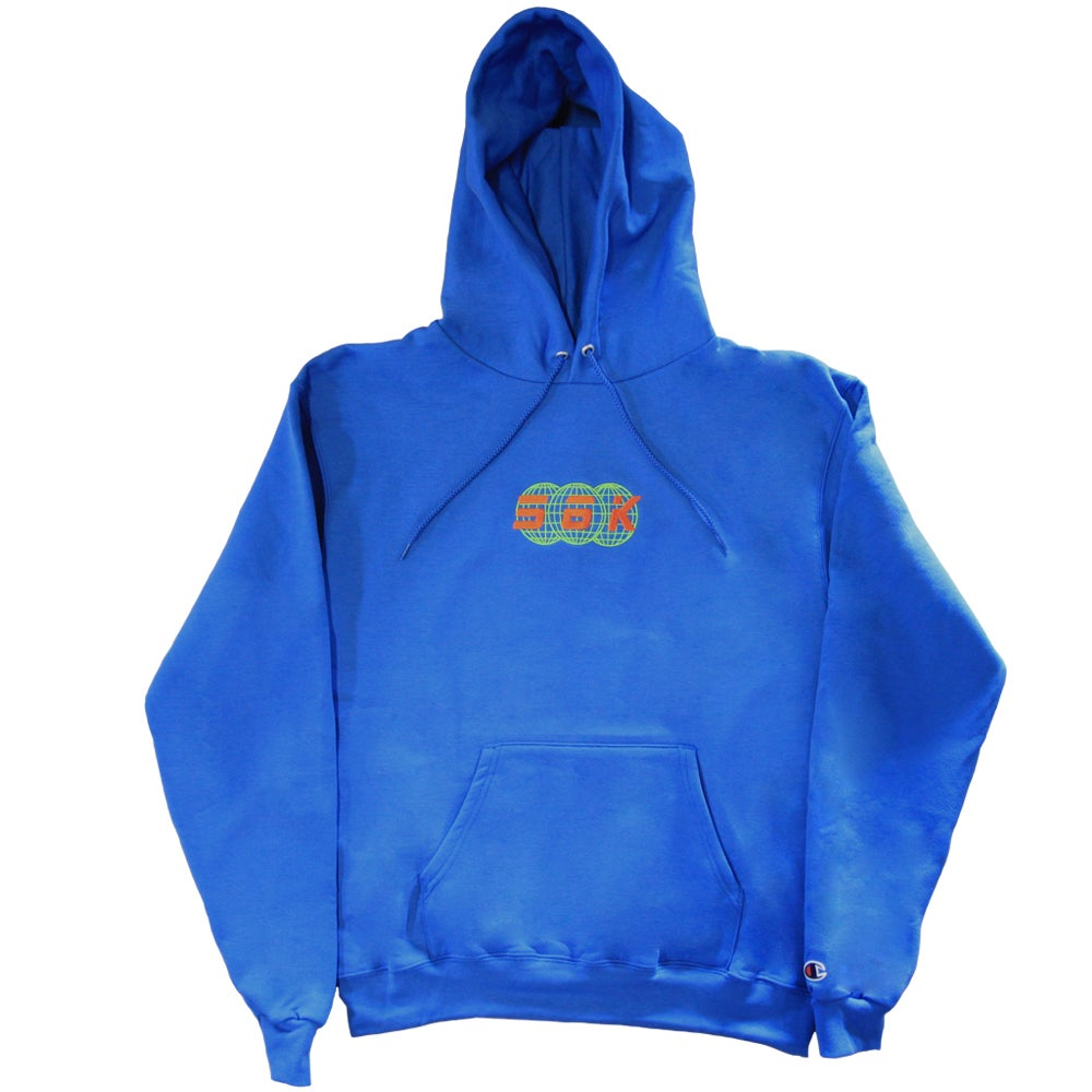 Image of 56K TECHNOLOGIES HOODY BLUE