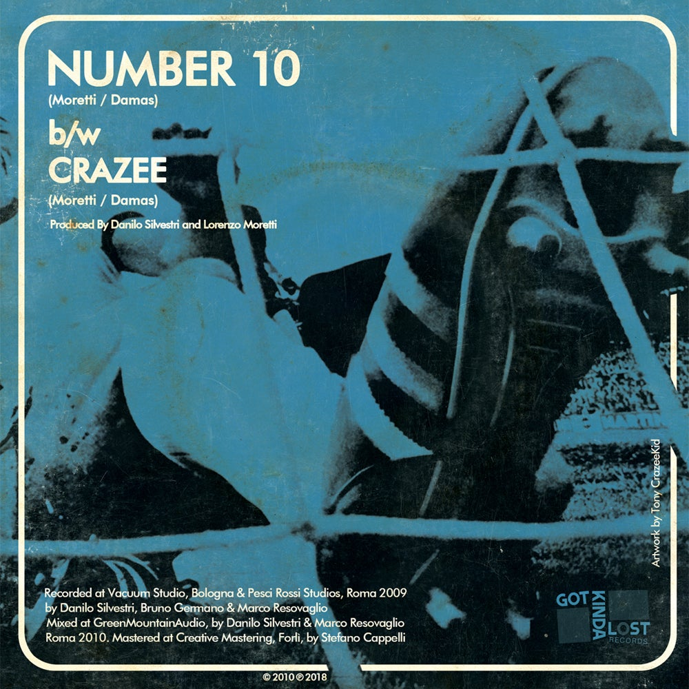 Image of GIUDA - Number 10 b/w Crazee 45 (Got Kinda Lost, 2018 - LST-002)