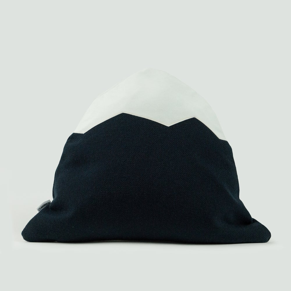 Image of Mountain Pillow C31 | Navy Blue