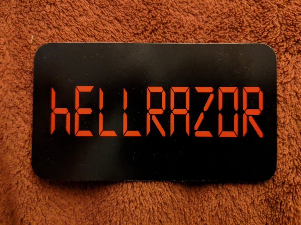 Image of Hellrazor clock radio sticker