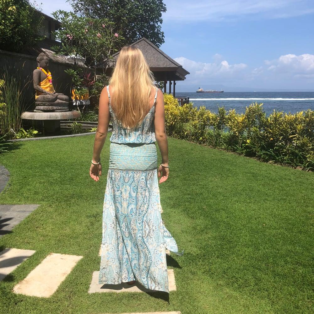 Image of Pali Dress | Lila Mint + Blue Print