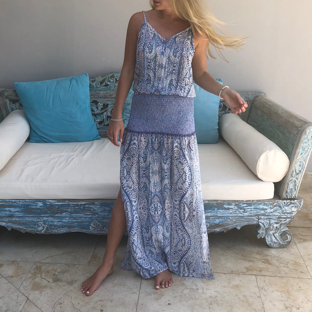 Image of Pali Dress | Lila Blue + Lilac Print