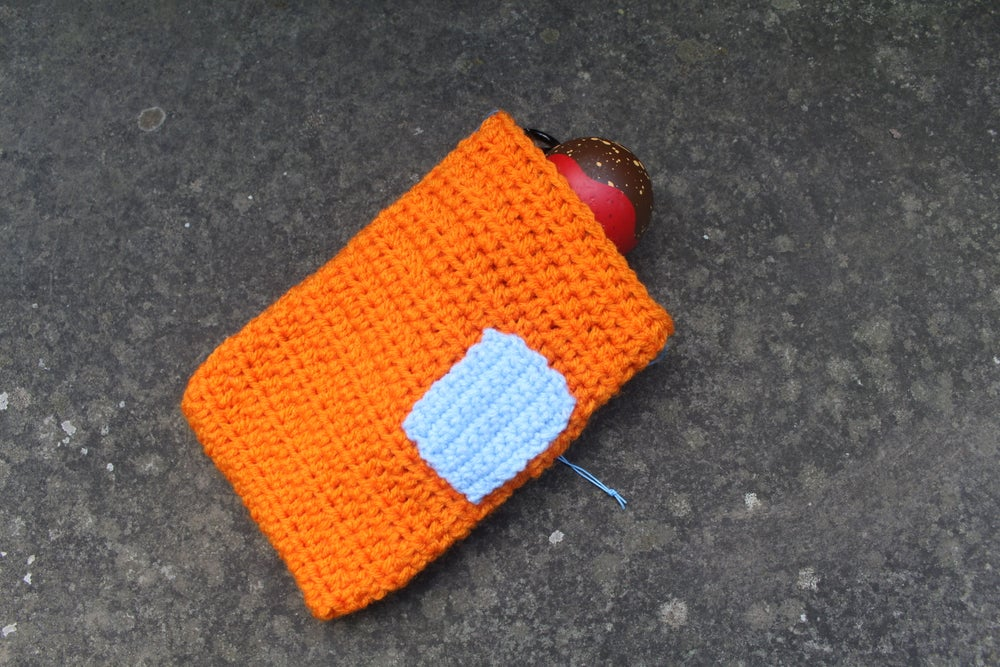 Image of Orange w/ Sky Blue Pocket Bag