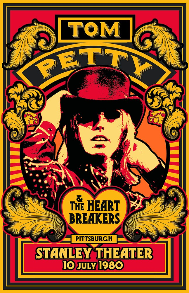 Image of TOM PETTY Stanley Theatre Pittsburgh   1980