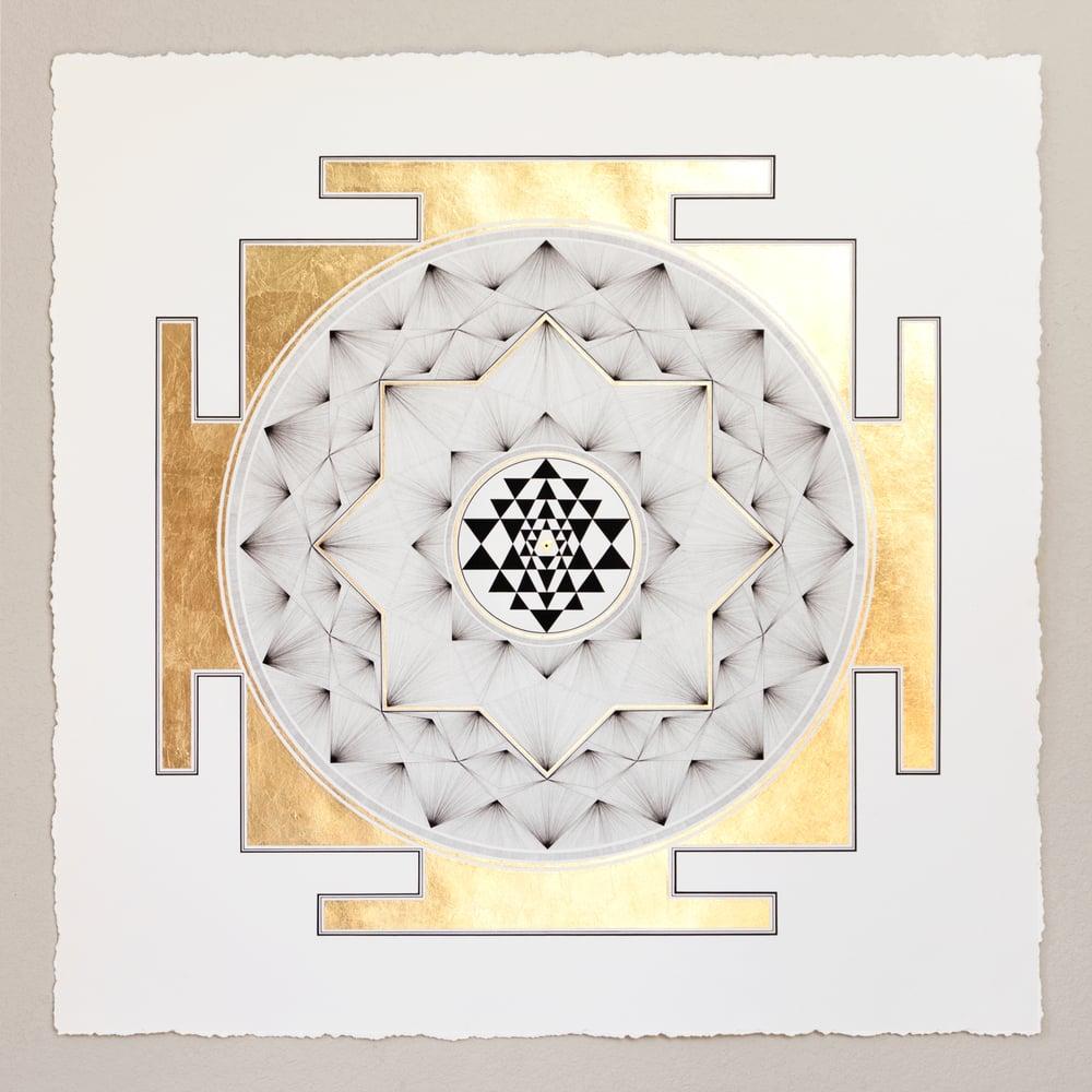 Image of Sri Yantra  |  Limited Second Edition Giclée + 24k Gold Print