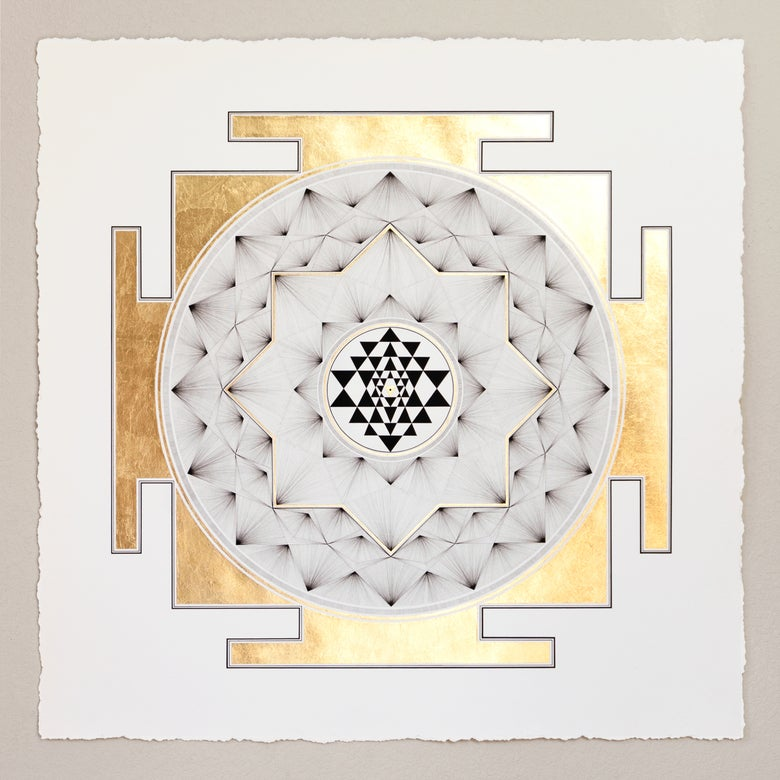 Image of Sri Yantra  |  Limited Second Edition Giclée + 24k Gold Print