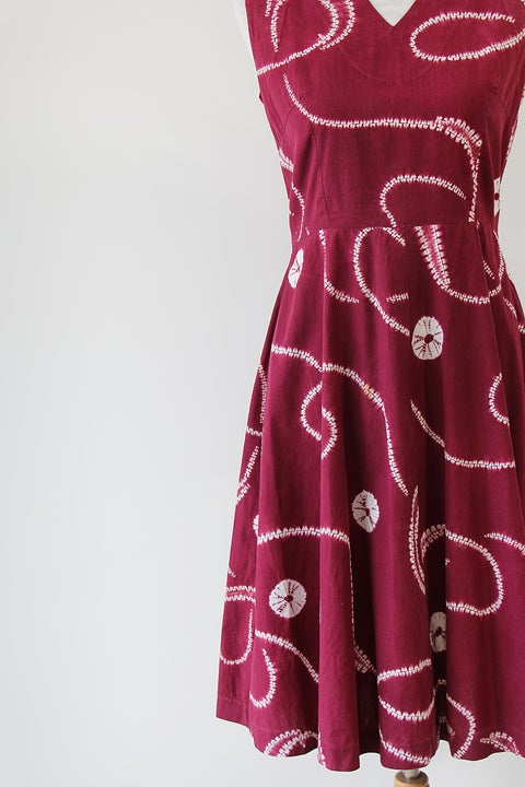 Image of SOLD Shibori Fit And Flare Dress