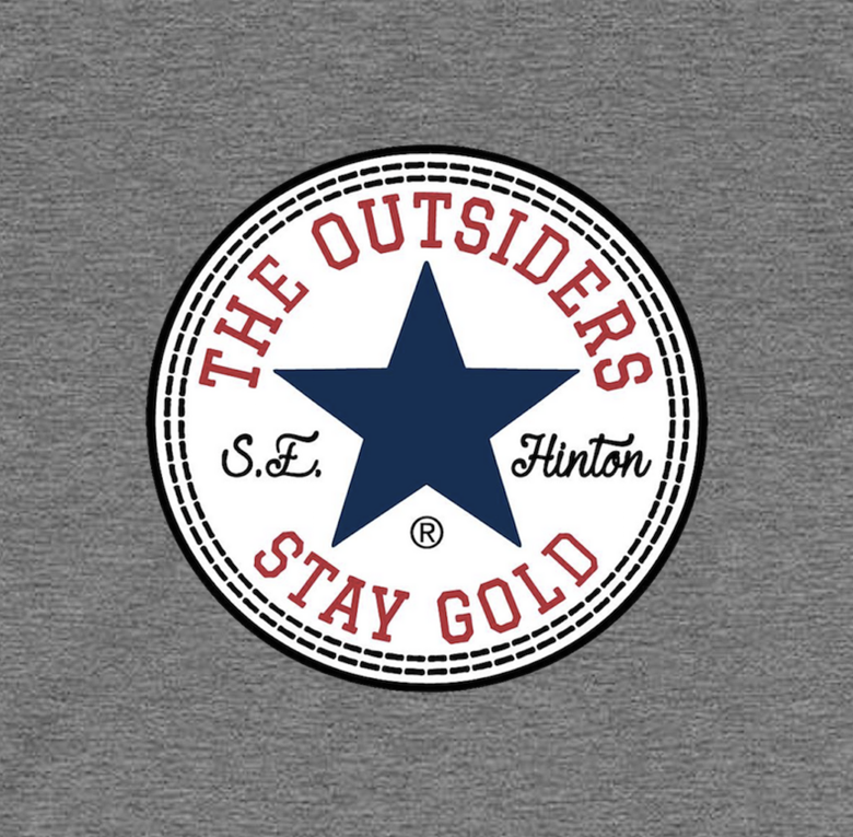 "Image of The Outsiders by S.E. Hinton ""All Star"" Premium Heather Grey Stay Gold Tee."