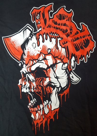 Image of LSP : AXE N SKULL TEE SHIRT