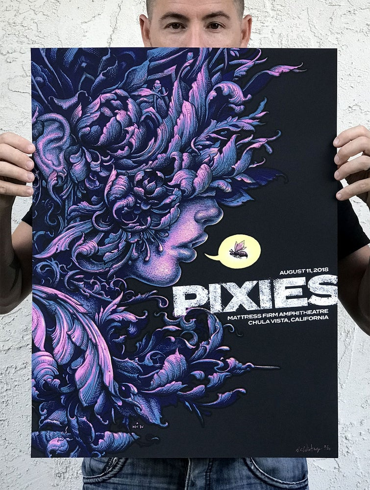 Image of Pixies Gig Poster, Artist Variants for August 11, Chula Vista, CA