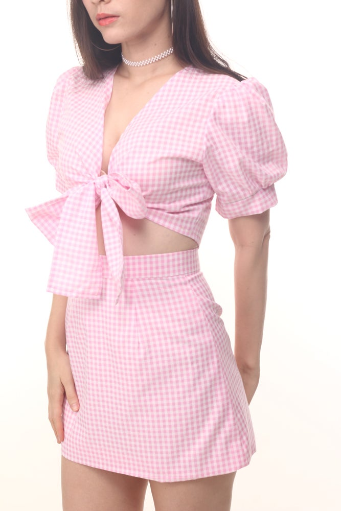 Image of Emily Set in Pink Gingham