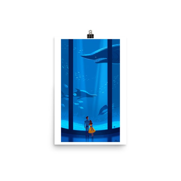 Image of Shark Aquarium Print