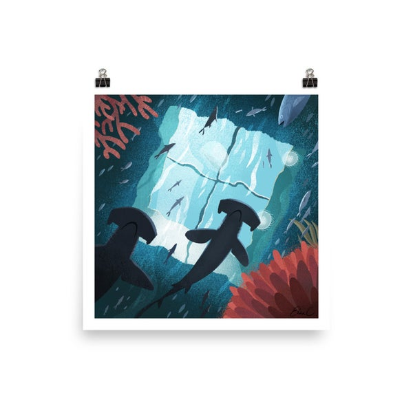 Image of Hammerhead Aquarium Print