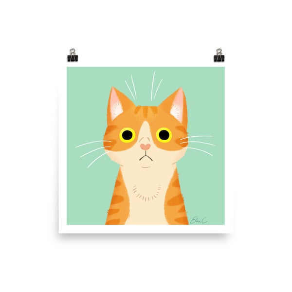 Image of Orange Tabby Cat Print
