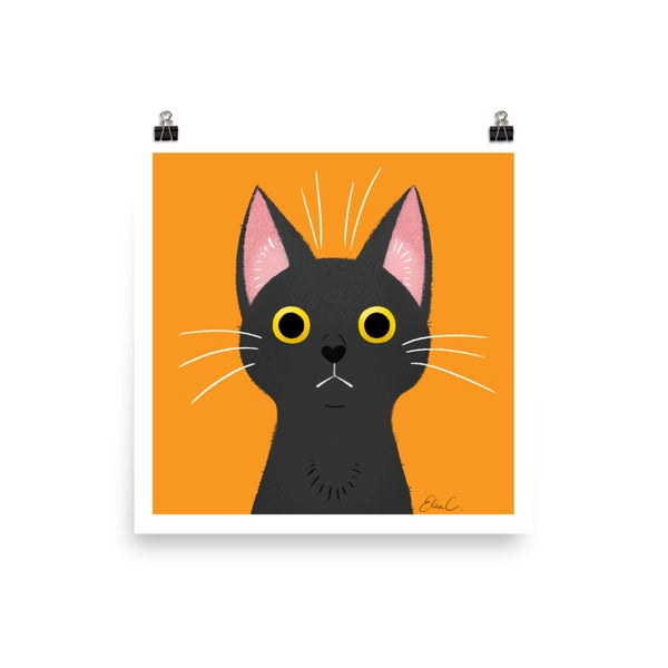 Image of Black Cat Print
