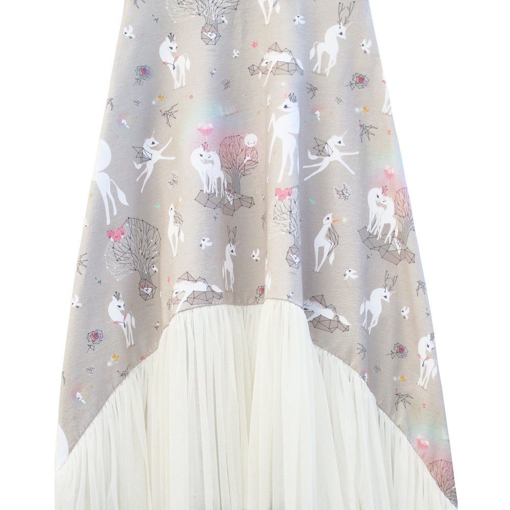 Image of unicorn love long dress