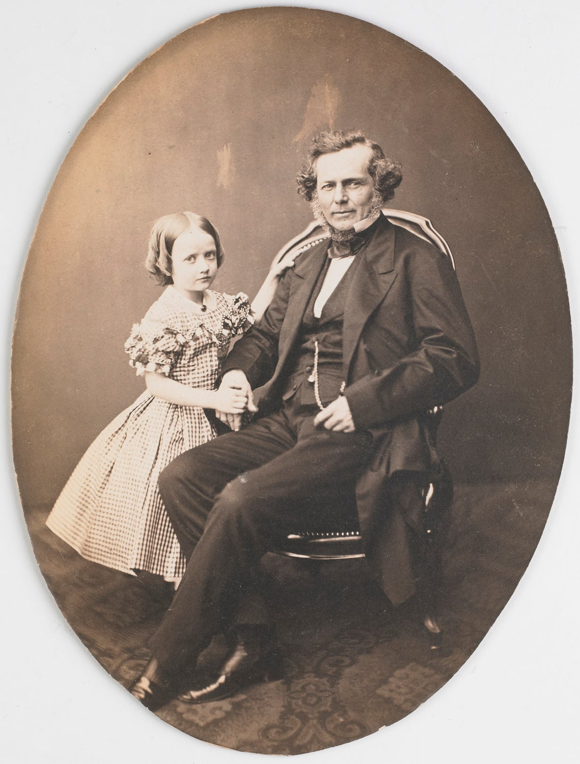 Image of portrait of a man and his daughter