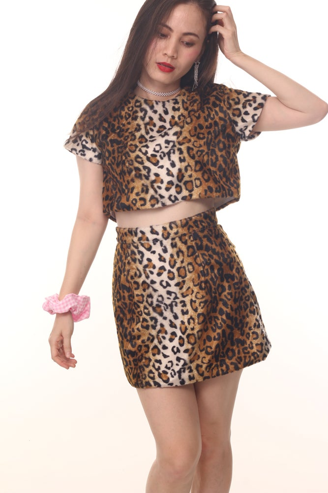 Image of Motel 2 Piece set in Leopard Print
