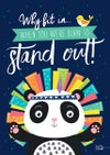 Born to stand out - Art Print