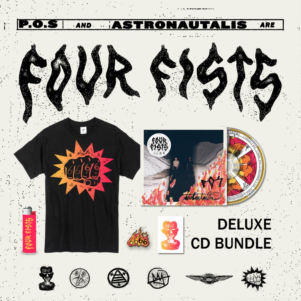 Image of 6666 - FOUR FISTS (CD) [DELUXE BUNDLE]