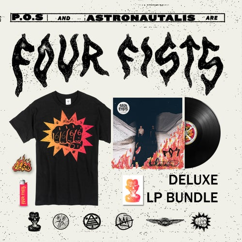 Image of 6666 - FOUR FISTS (LP) [DELUXE PRE-ORDER]
