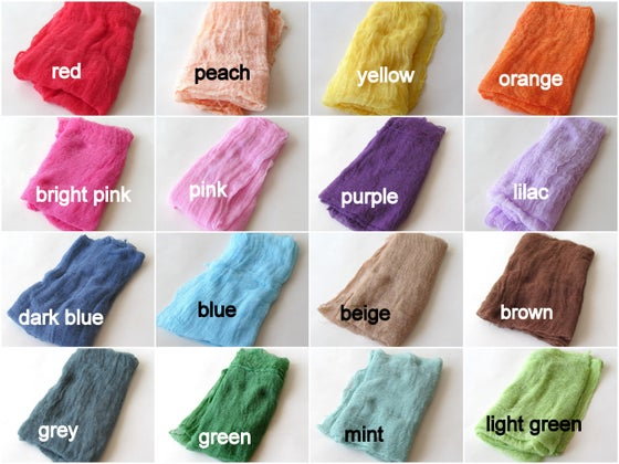 Image of Cotton Gauze Newborn Cheesecloth Fabric Wrap Baby Boy Girl Photo Layering Fabric Photography Props