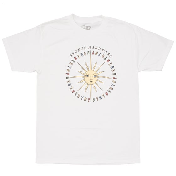 Image of PEACE LOVE AND HARDWARE TEE WHITE