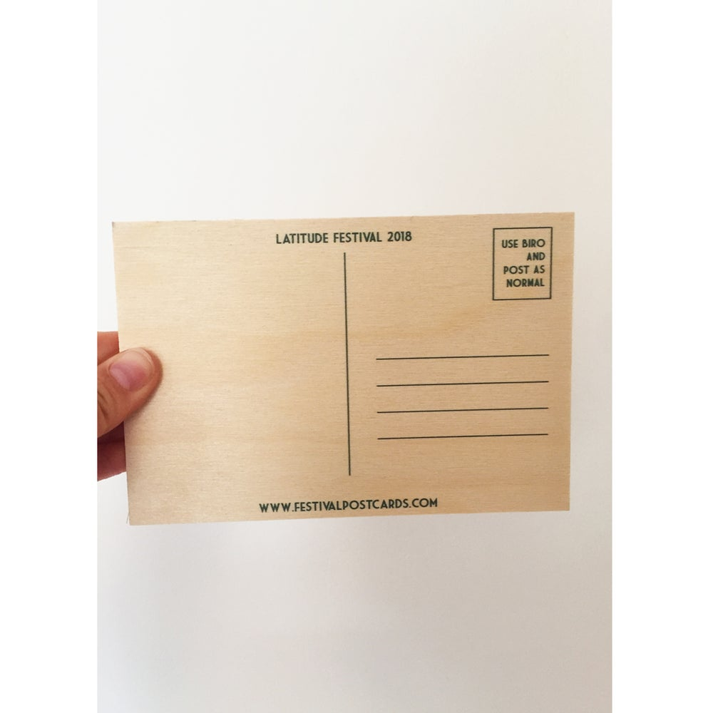 Image of Latitude Wooden Postcard 2018