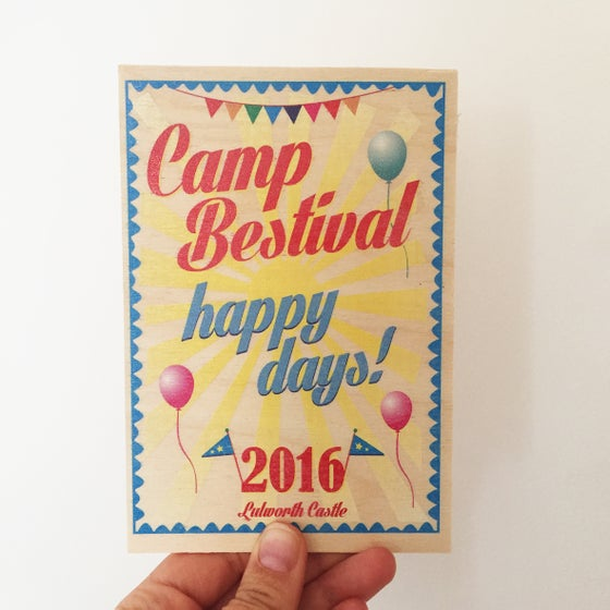 Image of Camp Bestival Wooden Postcard 2016
