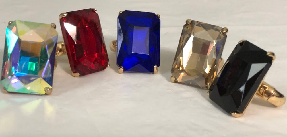 Image of Rectangle Bling Ring