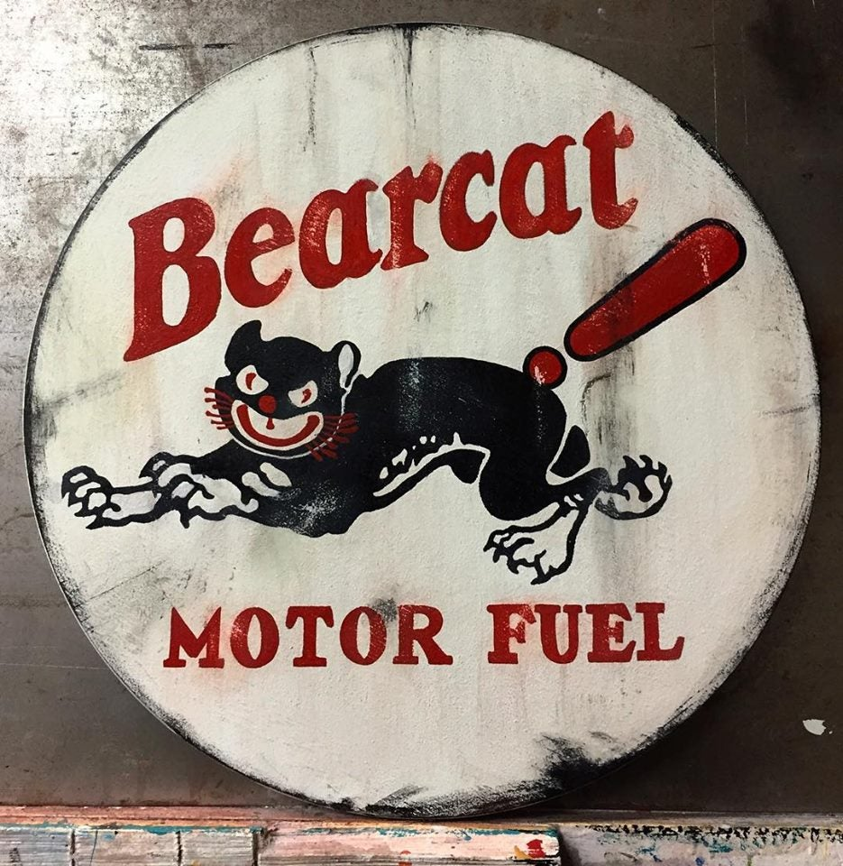 Image of Bearcat Motor Oil (Hand-Painted)