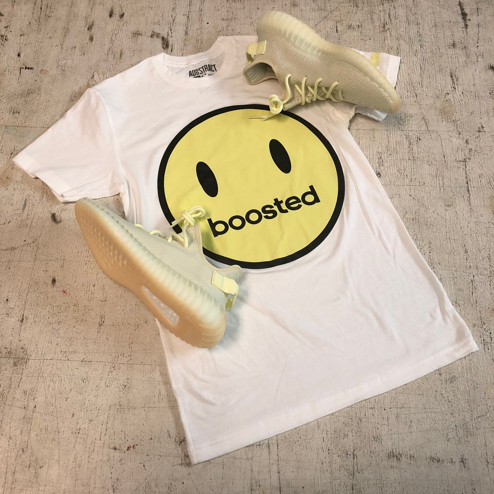 """BOOSTED HAPPY FACE """"BUTTER"""" T-SHIRT"""