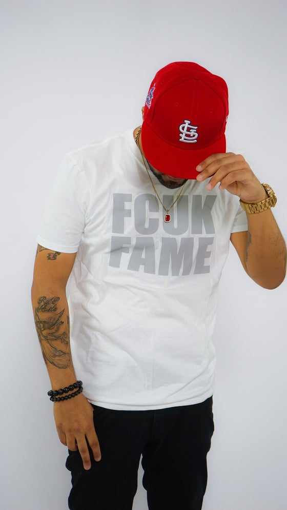 Image of Fcuk Fame White|Grey Tee