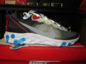 "Image of Nike React Element 87 ""Dark Grey/Photo Blue"""
