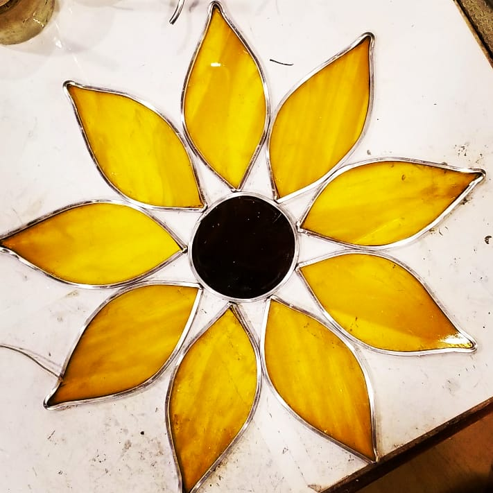 Image of Sunflower-stained glass