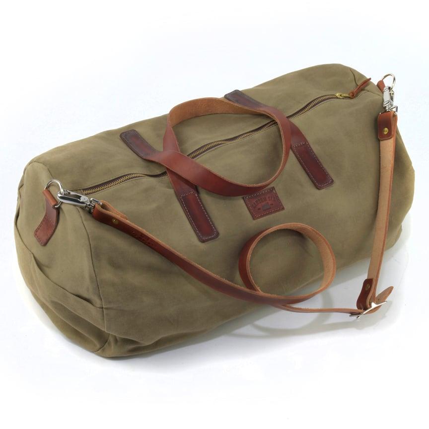 Ransom Six — Waxed Canvas Duffle Bag - Olive c029b7b258333