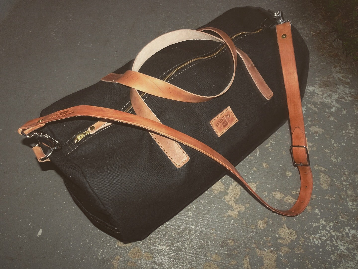 Image of Black Canvas Duffle Bag