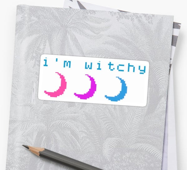 Image of I'M WITCHY moon sticker