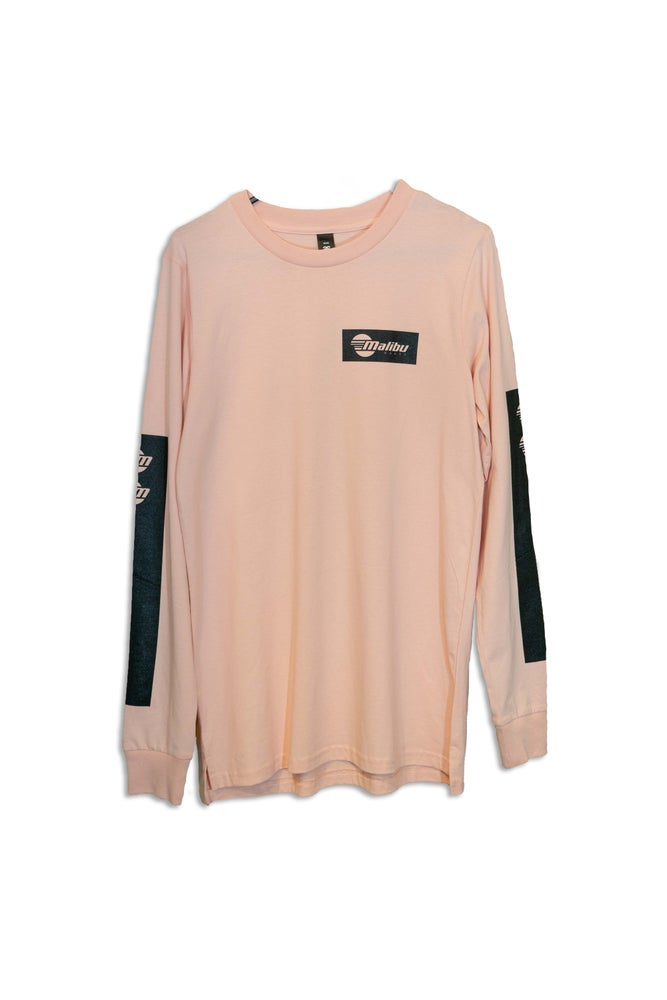 Image of Malibu Unisex Long - Sleeve Shirt - Pale Pink