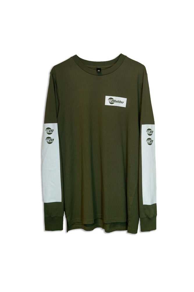 Image of Malibu Unisex Long - Sleeve Shirt - Army Green