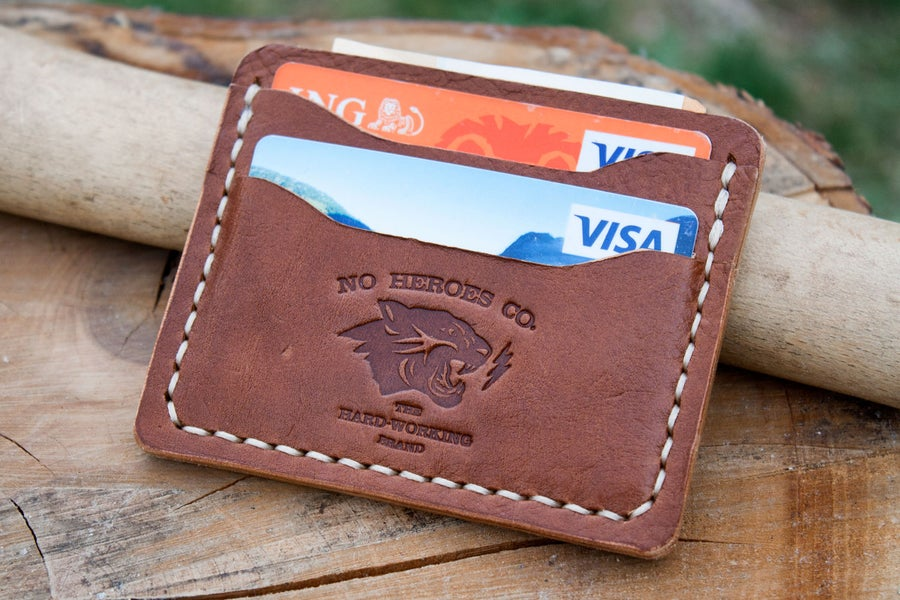 "Image of Comrade — ""Antique Saddle"" Italian Cowhide Leather Card Holder"