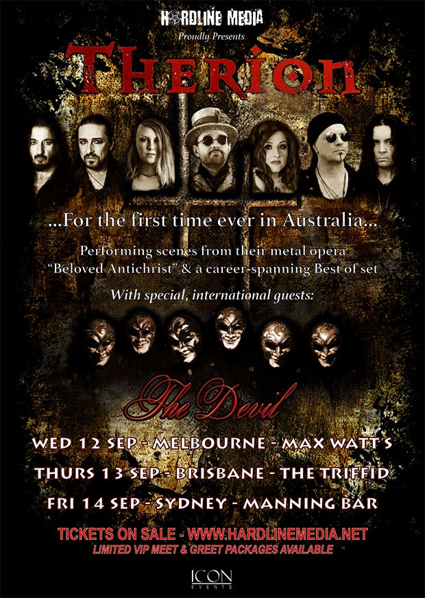 Image of THERION TICKET (VIP) - BRISBANE, THE TRIFFID - THURS 13 SEP 2018