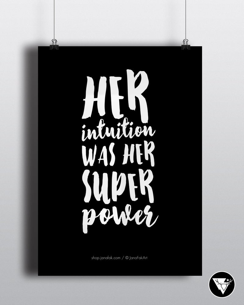 Image of Her intuition /art print
