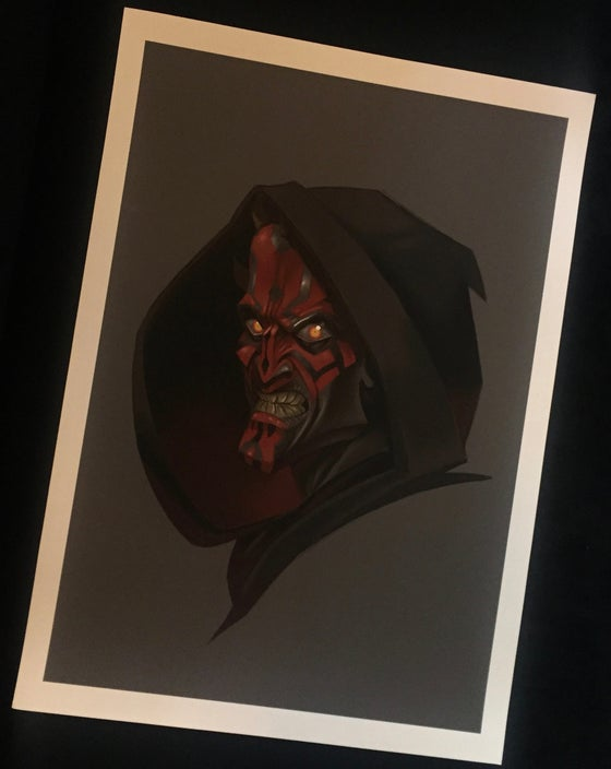 Image of Matt Difa Darth Maul Print
