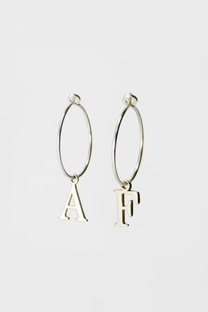 Image of 'Say my Name' Petite Hoops