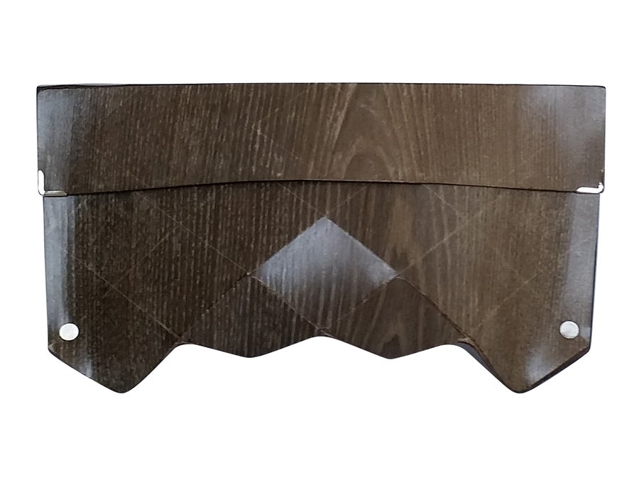 Image of CLUTCH IN WOOD- ORIGAMI DESIGN - DARK COCONUT