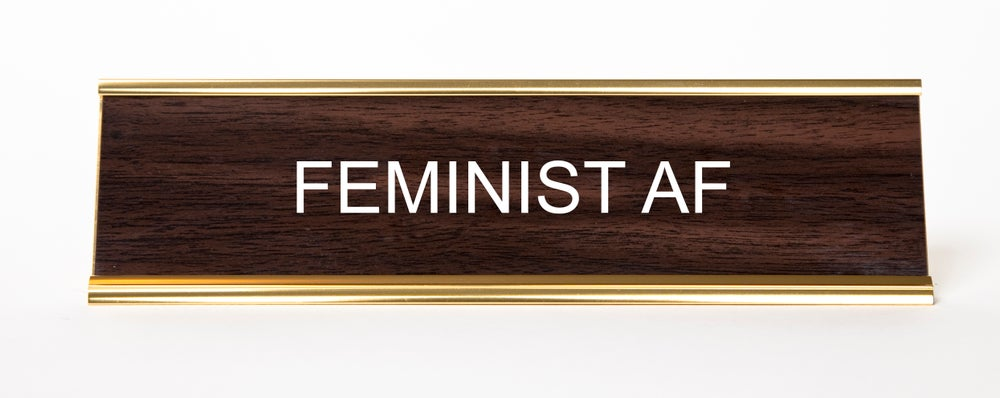 Image of Feminist AF Nameplate