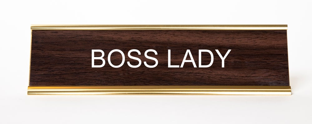 Image of Boss Lady Nameplate