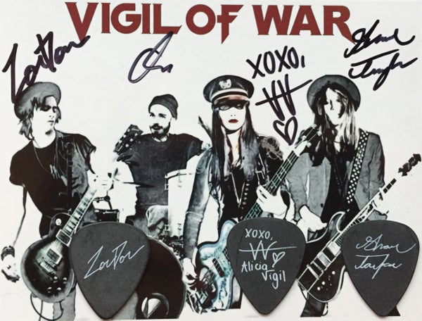 Image of Signature Pick set +Signed Backing Card